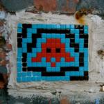 Invader, murales, arte, videogame, spaceinvaders, streetart